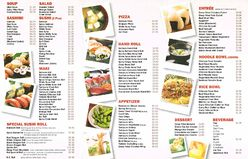 Hoi Sushi Takeout Menu Side 2