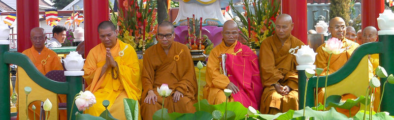 Monks - Blessing the new Arhat Garden